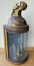 ANTIQUE FRENCH EMPIRE TOLE WALL LANTERN LAMP TOLEWARE 19TH CENTURY