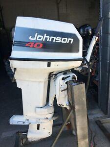 40hp Johnson Tiller steer Outboard Motor