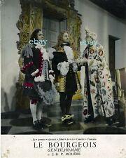 *Louis Seigner Le Bourgeois Gentilhomme spectacle filmé photo cartoline vintage