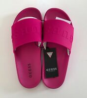 GUESS Women's Sandals/Slides in Bright Vivid Pink Sizes UK 2 3 4 5 6 7 BNIB