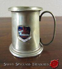Antique Souvenir Mini Tankard Prestatyn Wales Presentation Carnival Queen Eluned