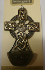 IRELAND BRONZE PLATED WALL PLAQUE HOLY WATER FONT CELTIC SHADOWS CELTIC DESIGN