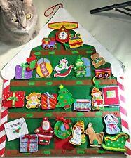 Hallmark Christmas Advent Calendar Santas Workshop Countdown Tree Ornaments 2006