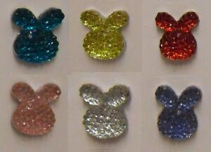 "Glittery Bunny Rabbit Tie Pin  ""Colour Option"""