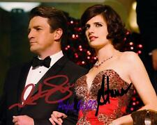 Castle Nathan Fillion Stana Katic SIGNED AUTOGRAPHED 10X8 REPRO PHOTO PRINT
