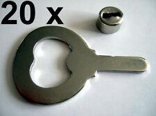 20 x Metallteil Klinge + Hülse für Flaschenöffner Kapselheber Länge 69 mm