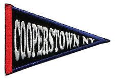 "COOPERSTOWN NEW YORK BASEBALL PENNANT DESIGN 3.5"" SOUVENIR PATCH"
