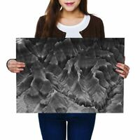 A2 - 3D Geology Map Mountain Ridge Poster 59.4X42cm280gsm(bw) #42402