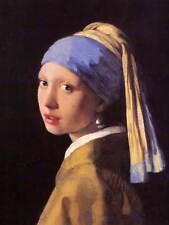 Johannes vermeer girl with pearl earring old master art painting print 1594OM
