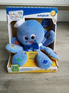 Baby Einstein OCTOPLUSH OCTOPUS Tri-Lingual Musical Blue Plush Colors Objects