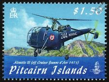 Aérospatiale Alouette III French Helicopter (from Jeanne d'Arc) Aircraft Stamp