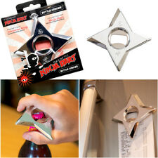 NINJA THROWING STAR SHURIKEN BOTTLE OPENER FRIDGE MAGNET MAN DAD BEER FUN GIFT