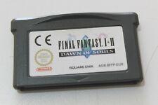 Jeu Final Fantasy 1 et 2 Dawn of souls sur Game boy Advance ORIGINAL