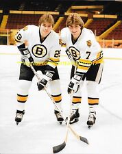 RAY BOURQUE & BRAD McCRIMMON Pose for ROOKIE PHOTO 8x10 BOSTON BRUINS GREATS~@@