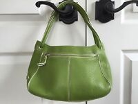 Cole Haan Green Pebbled Leather Tote Bag Handbag Purse