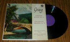 GRIEG Symphonic Dances & 2 Elegiac Melodies - Pro Musica Symphony - 1959 Vox- EX