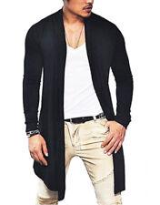 US Mens Winter Warm Long Wrap Cardigan Jumper Coat Jacket Casual Outwear Sweater