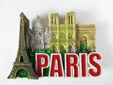 Paris Magnet Reise Souvenir Frankreich,Eiffelturm,Arc de Triomphe,Sacre Coeur