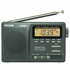 TECSUN Dr-920c Digital Portable Alarm Clock Radio FM Stereomw SW 1-10 Full