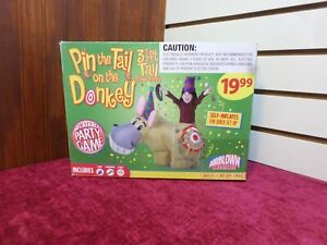 GEMMY AIRBLOWN INFLATABLE PIN THE TAIL ON THE DONKEY Retired BIRTHDAY PARTY GAME