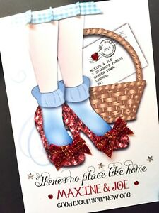 Handmade Personalised 'NO PLACE LIKE HOME' New Home Card