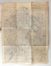 1860s Imperial Russian Lithograph Map of VOLGA river Seliger Lake Ostashkov Tver