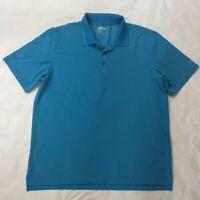 IZOD Perform-X Golf Men's Golf Polo Shirt Size XL Turquoise Short Sleeve