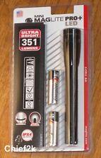 MAGLITE PRO PLUS LED 2 Cell AA Flashlight, Black Mag Lite Maglight 351 Lumens