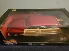 1:18 Scale Hot Wheels Collectibles 1950 Merc Woodie With Surfboard