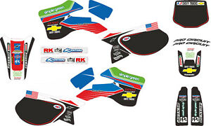 Kit déco pro circuit pour 125 250 kx année 1999 à 2002