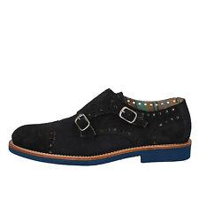 men's shoes DI MELLA 9,5 (EU 42,5) elegant / oxford-shoes blue suede AD269-E