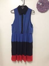 Ladies dress FOREVER 21 Plus size XL black blue red color block lined 140