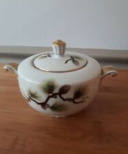 Vintage NARUMI fine china Shasta Pine sugar bowl dish with lid