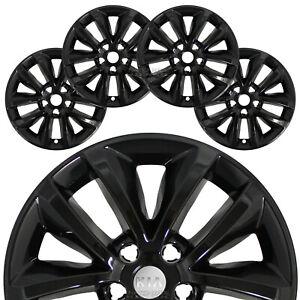 "4 fit Kia Sorento L LX 2016-2018 Black 17"" Wheel Skins Hub Caps Full Rim Covers"