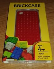 SmallWorks LEGO BrickCase Hard Shell Casing Apple iPhone 4 / 4S Red NEW MINT!!