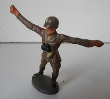 ELASTOLIN LINEOL US american officer attacking with sword WWII