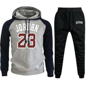 Jordan 23 2021 Mens Sets Hoodies+Pants Autumn Winter Men Hooded Sweatshirt Fleec