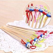 Beauty & Health 10pcs Portable Cute Mini Doll Earpicks Wood Bamboo Ear Picks Wax Remover Cleaner Tool Health Care Ear Care New