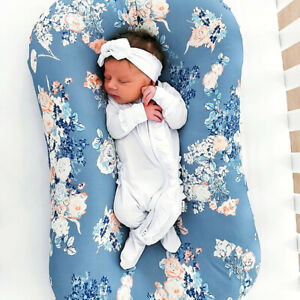 Removable Slipcover Washable Soft Lounger Cover Nest Cover Print Pattern Newborn