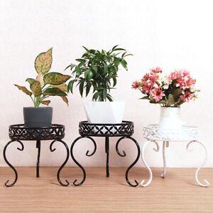 Single Layer Floor-Standing Planter Tray Holder Shelf Flower Stand Rack Garden h