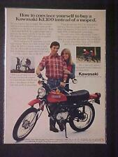 OLD JAPANESE KAWASAKI MOTORCYCLE JAPAN MOTOR BIKE ART PRINT AD~ORIG VINTAGE 1980