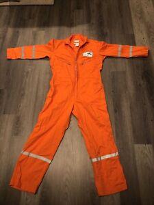 Walls Master made Men's Workwear Orange Coverall Baker Hughes Size 44 Regular