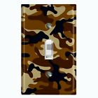 Metal Light Switch Cover Wall Plate Camouflage Brown Pattern