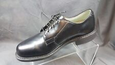 Addison Black Leather Plain Toe Oxford Derby Men's US 9D EU 42