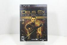 Deus Ex Human Revolution Augmented Edition - PS3 - 2011 - CIB - Tested - USED