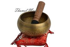 "4""Tibetan Buddhist Singing-Hand beaten singing bowl,Free Cushion and Striker"