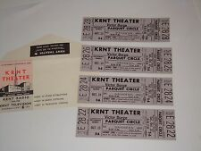 Victor Borge 4 Unused 1966 Theater Tickets and Will Call Envelope Krnt Theater p