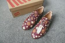 New Fiflop Dark Floral Leather Comfort Derby Shoes - Boxed UK Size 8 RRP £90