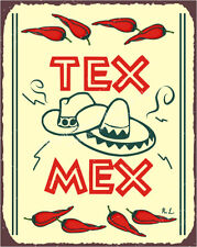 (VMA-L-6571) Tex Mex Vintage Metal Mexican Retro Tin Sign