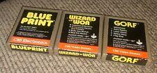 Atari 2600 3 Game Cartridge Lot Wizard Of Wor/Gorf/Blueprint CBS ELECTRONICS